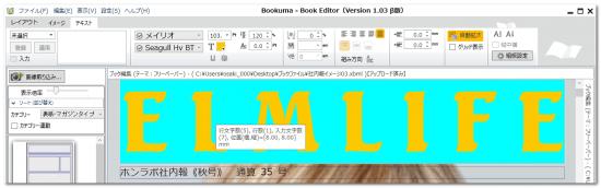 DTPソフトbookuma文字のカラー変更